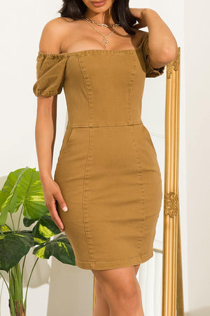 Carrie  Dress Camel