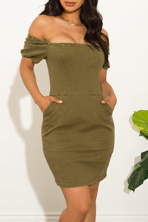 Carrie  Dress Olive