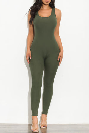 Just A Little Distraction Jumpsuit Olive
