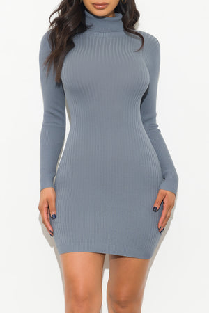Over The Top Dress Dusty Blue