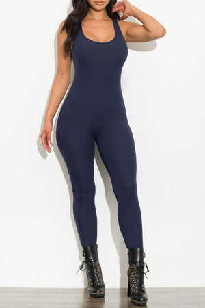 Just A Little Distraction Jumpsuit Navy