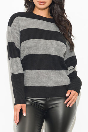 Emma Sweater Black/Grey