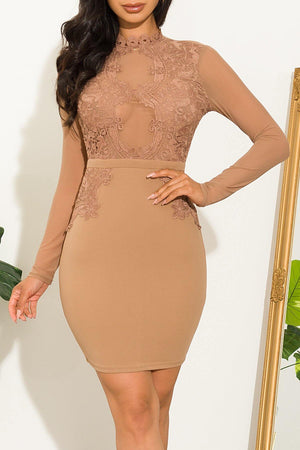 Here For You Dress Nude