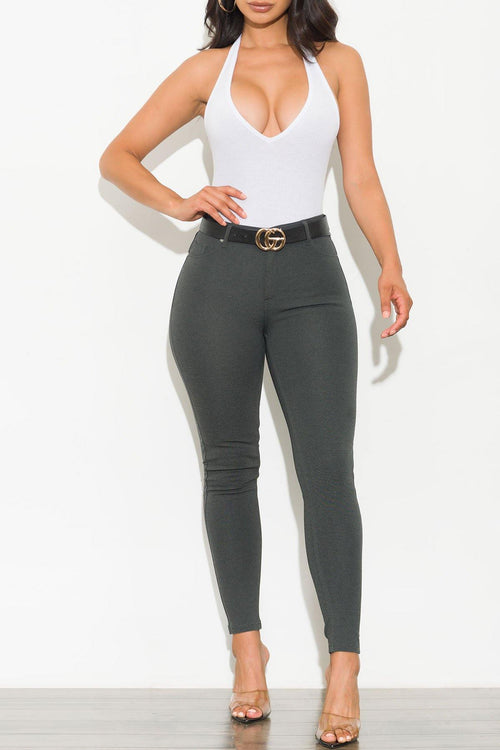 Abby Pants Charcoal Gray