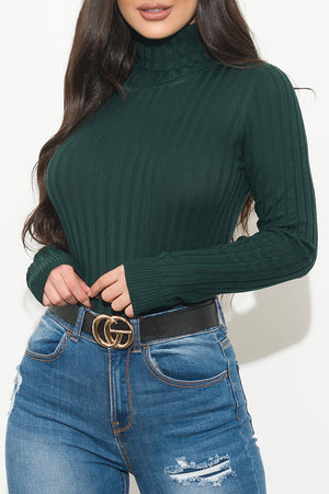 My Kind Of Top Turtle Neck Hunter Green