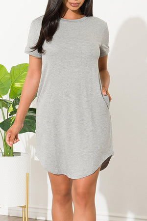 Danelis Tunic Dress Gray