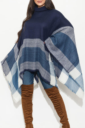 One Of A Kind  Poncho Navy
