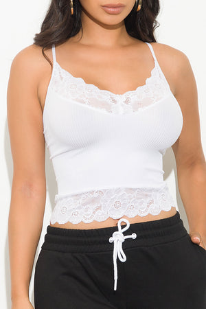 Feels Right Crop Top White