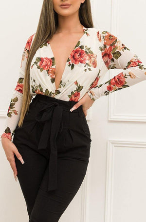 Adrianne Floral Bodysuit - Fashion Effect Store