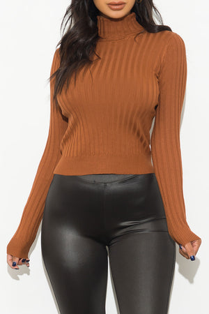 My Kind Of Top Turtle Neck Caramel