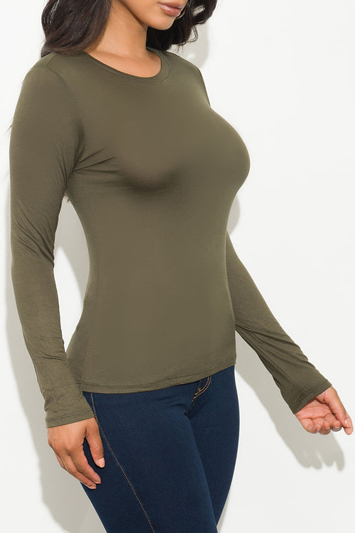 Andrew Top Long Sleeve Olive