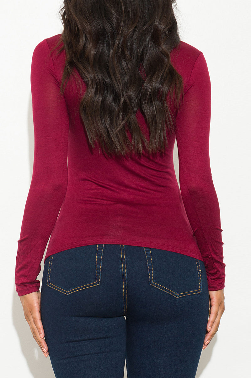 Andrew Top Long Sleeve Burgundy