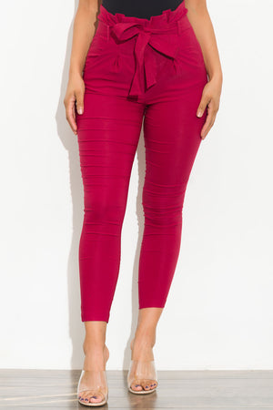 Keep It Moving Pants Cranberry Red
