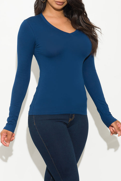 Ebony Top Long Sleeve Teal