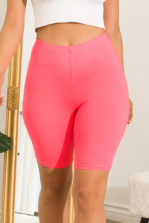 Chill All Day Biker Short Coral