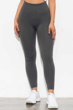 New Limits High Waisted Fleece Lined  Leggings Gray