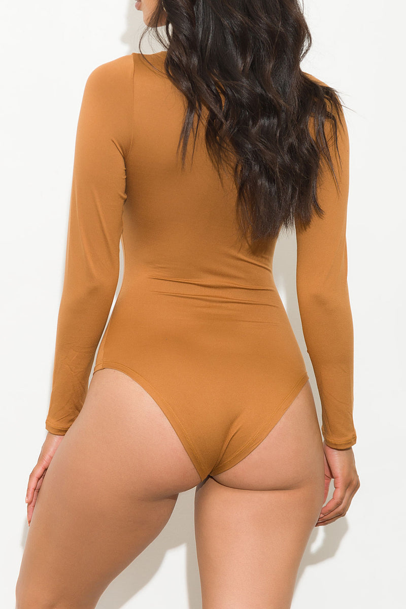 Missed Your Chance Bodysuit Caramel