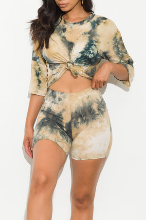 Keeping It Cool Tie Dye Set Black/Brown