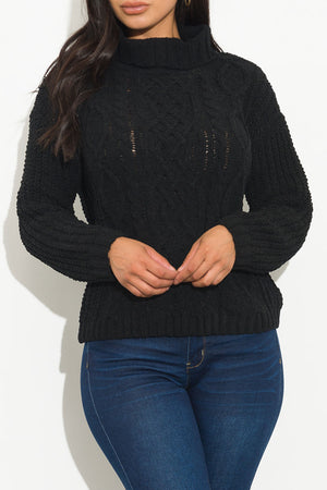Keep It Cozy Sweater Black
