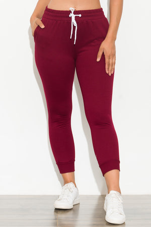 Good Vibes Jogger Burgundy