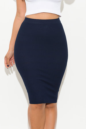 Andy Pencil Skirt Navy