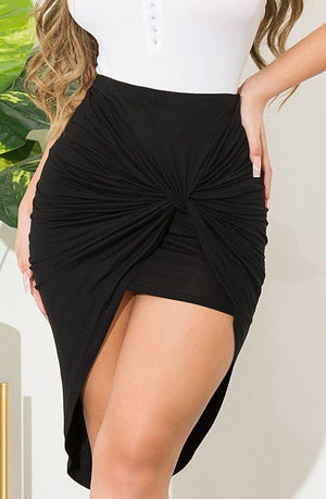 Drop A Line Skirt Black
