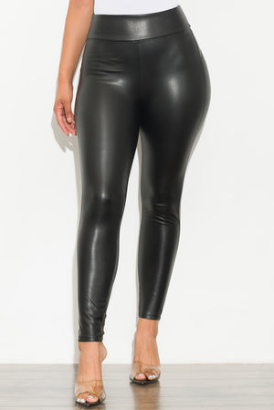 Obsession Faux Leather Fleece Lined Leggings