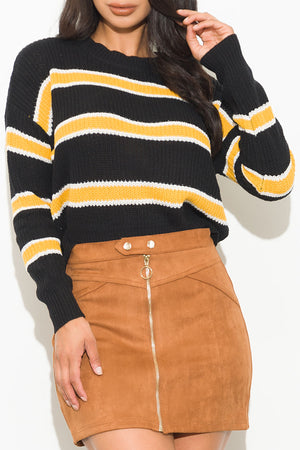 Aria Sweater Black/Yellow