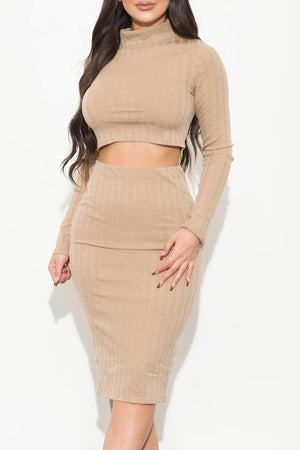 Double Take Two Piece Set Nude