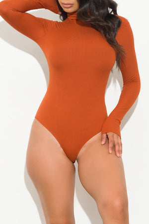 Carol Bodysuit Turtle Neck Orange