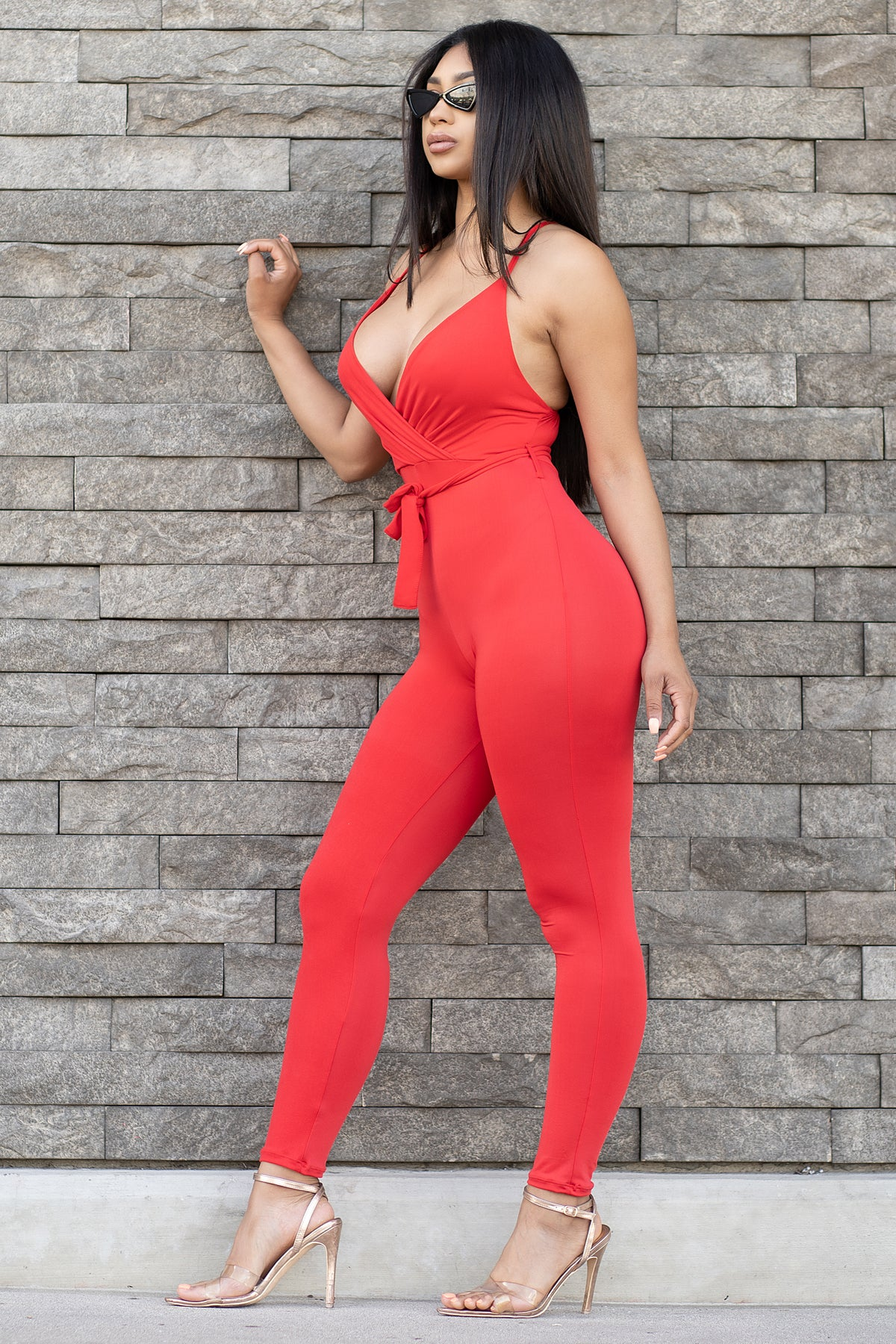 Yanet Jumpsuit- Red