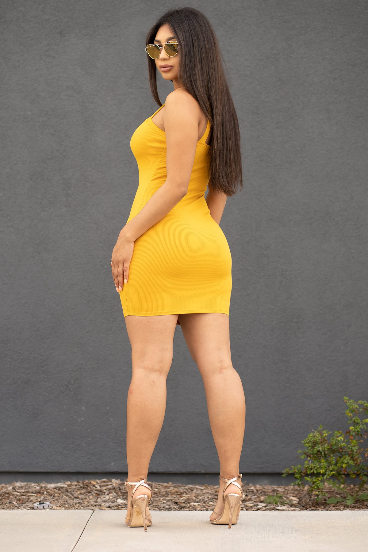 Yadira Mini Dress- Mustard