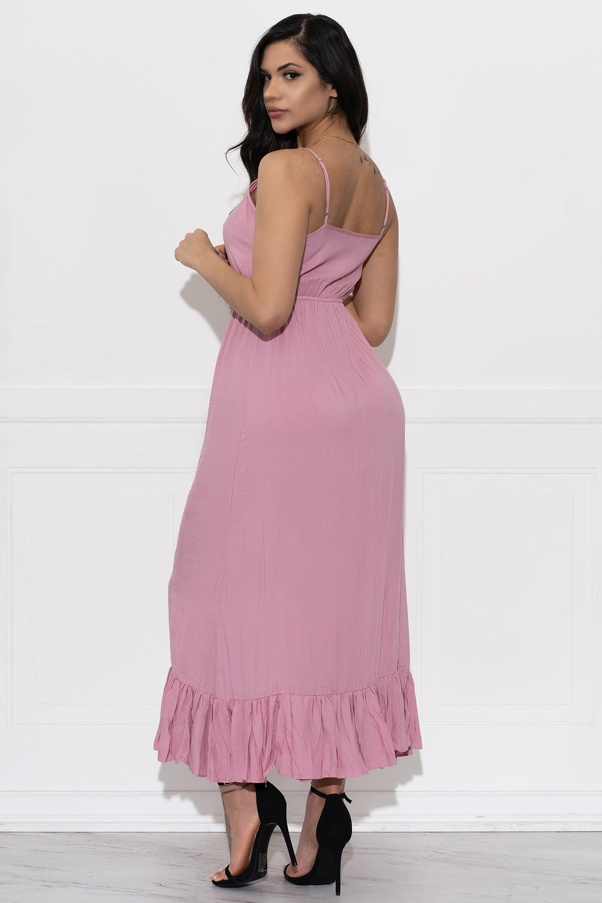 Vicky Maxi Dress- Dusty Pink