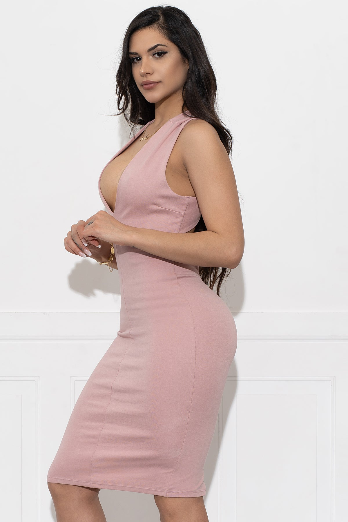 Love At First Sight Dress - Dusty Pink