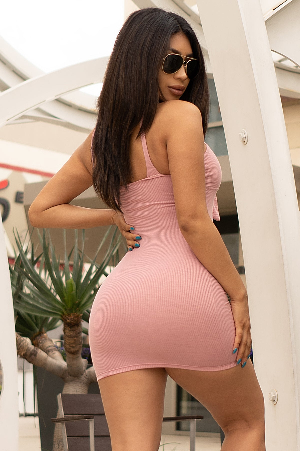 Kalyssa Mini Dress - Dusty Pink