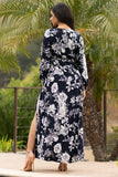 Ciara Floral  Maxi Dress  Navy Blue