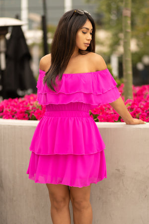 Scarlett Dress - Hot Pink
