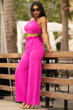 Vacation Glow Two Piece Set - Hot Pink