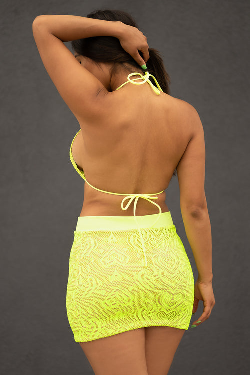 Sienna Two Piece Set - Neon Green