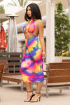 Real Life Barbie Tie Dye Dress