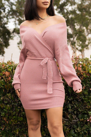 One Call Away Dress Dusty Pink