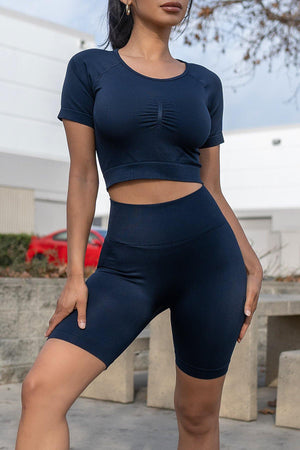 Sports Luxe Set Light Navy
