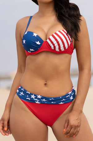 Patriotic Two Piece Swimsuit