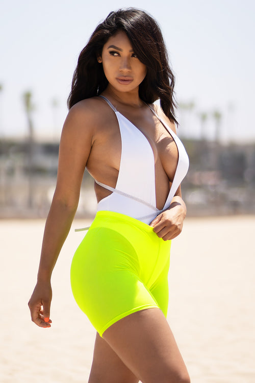 Time To Go Mesh Shorts Neon Green