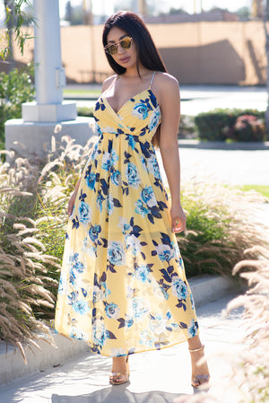 Aubrey Maxi Dress Yellow