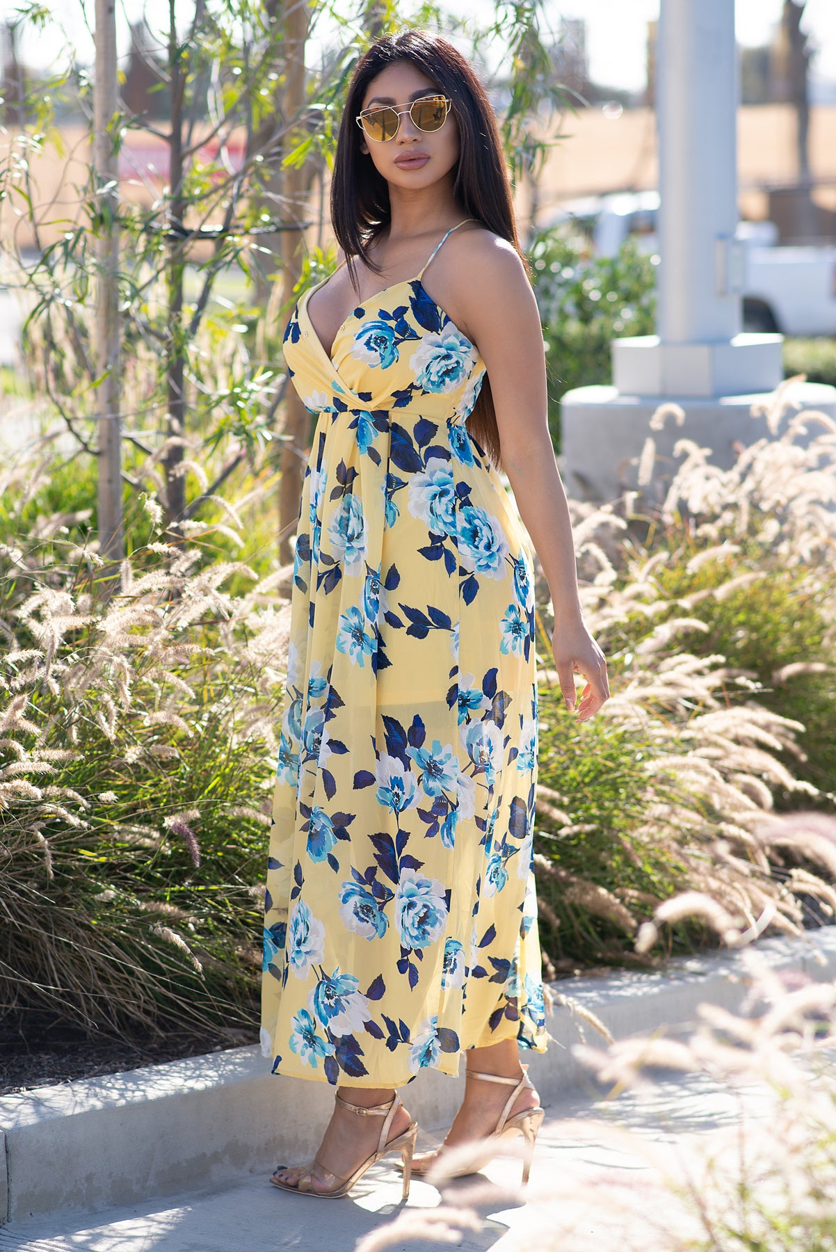 Aubrey Maxi Dress- Yellow