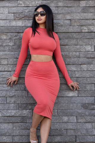 Blaze Two Piece Set - Hot Pink