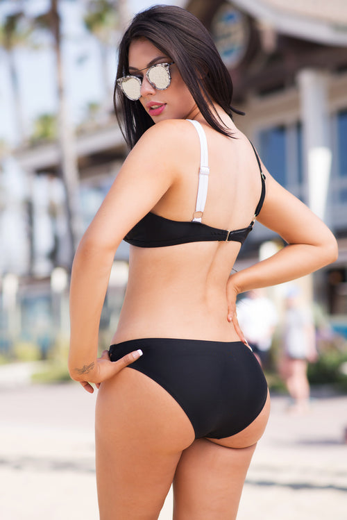 Kelani Black and White Swimsuit