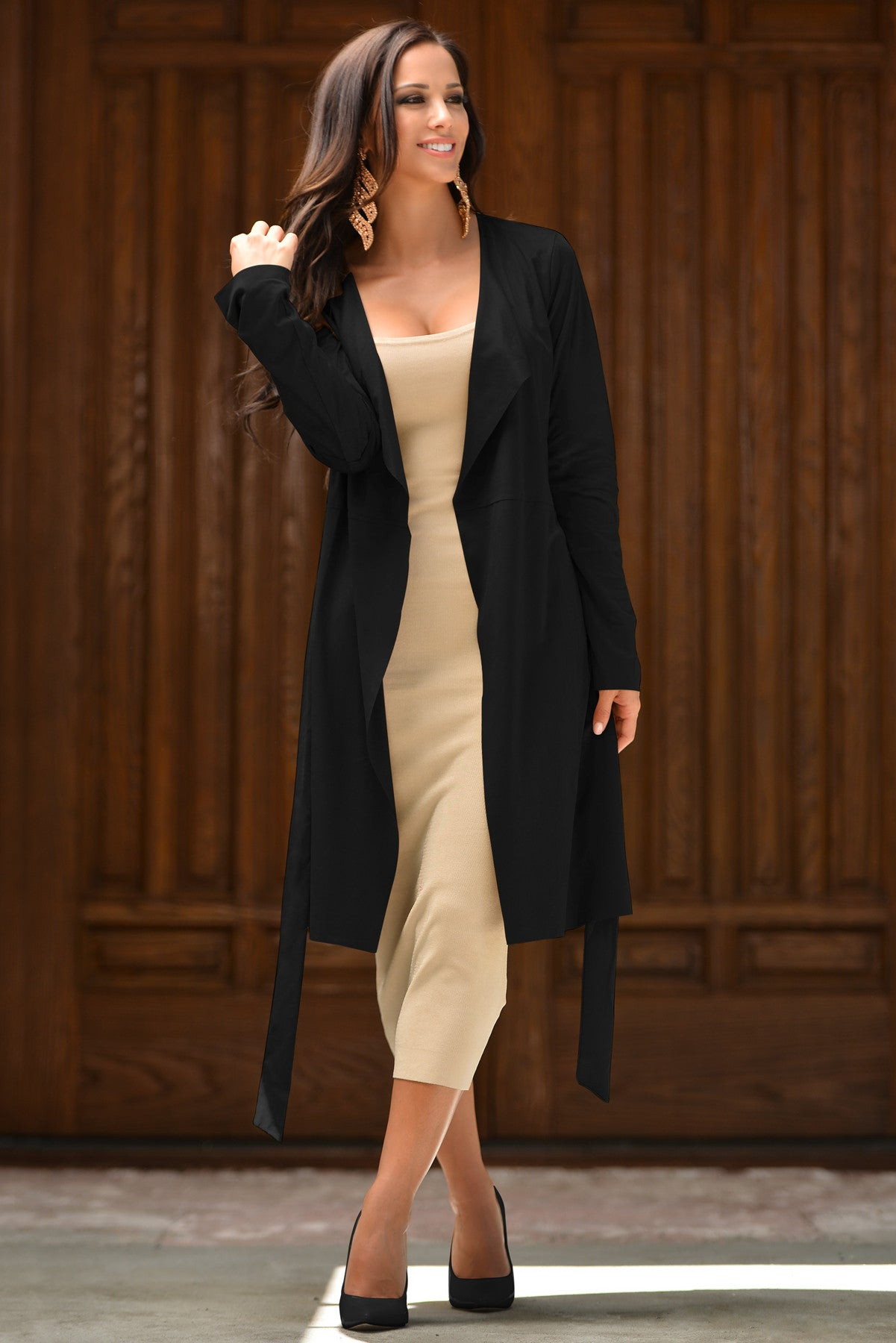 Vania Suede Duster Black - Fashion Effect Store  - 1