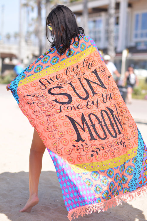 Live By The Sun Beach Blanket